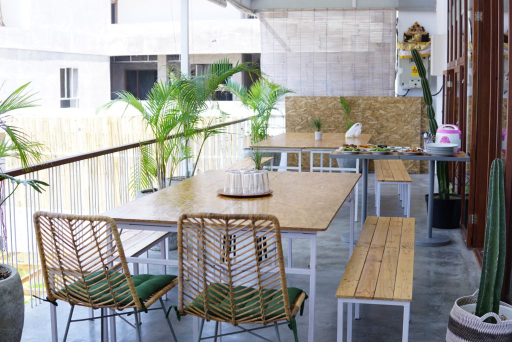 A Patio Area in a Coworking space