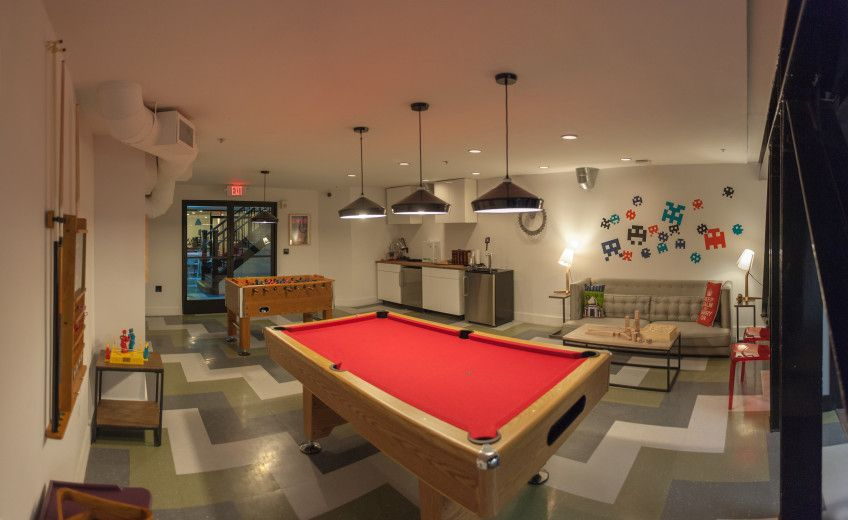 Pool table - advantages of coworking space