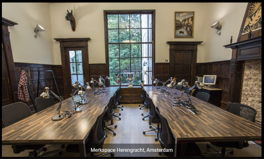 Merkspace Herengracht Coworking Space in Amsterdam