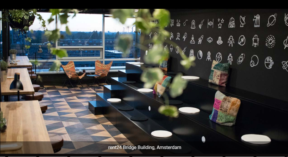 Rent24 Bridge Building Coworking Space in Amsterdam