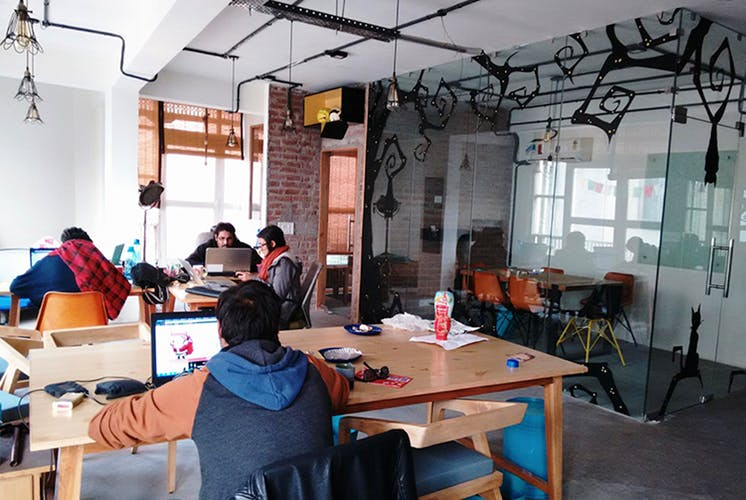 A little anarky coworking space in Delhi NCR