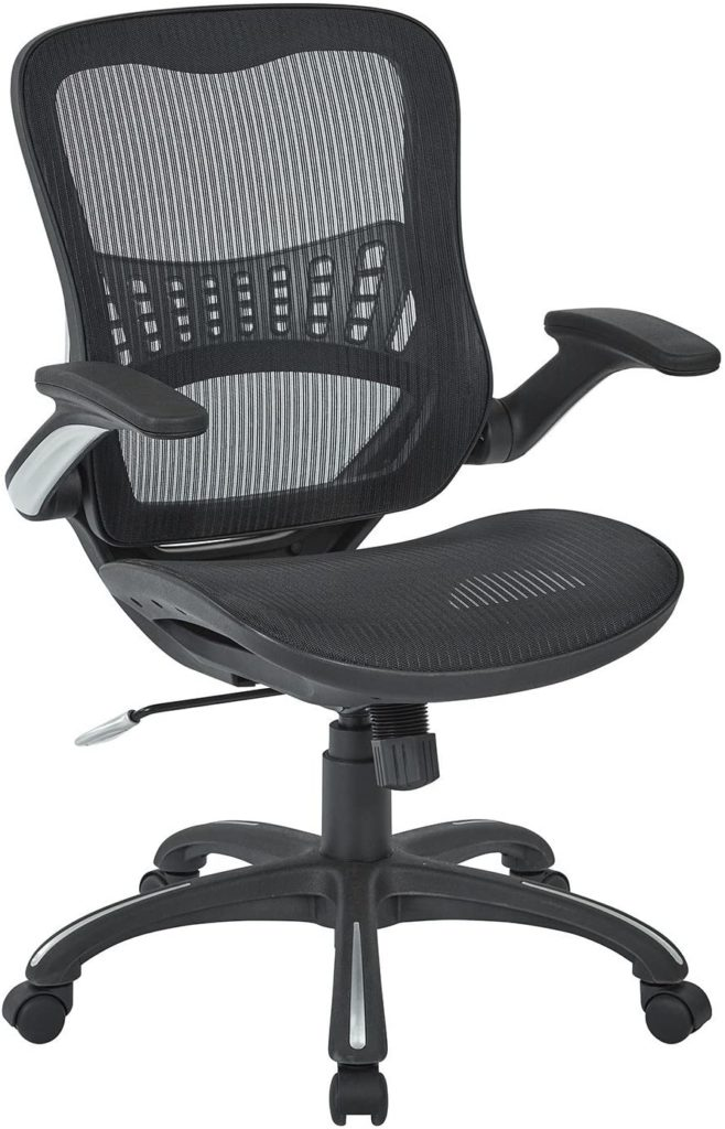 Office Star Mesh Back & Seat, 2-to-1 Synchro & Lumbar Support Managers Chair