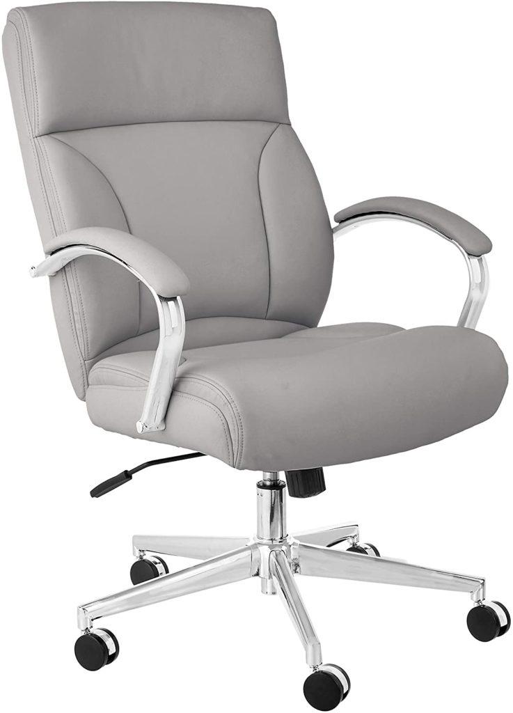 Amazon Basics Modern Executive Chair, 275lb Capacity with Oversized Seat Cushion : $170