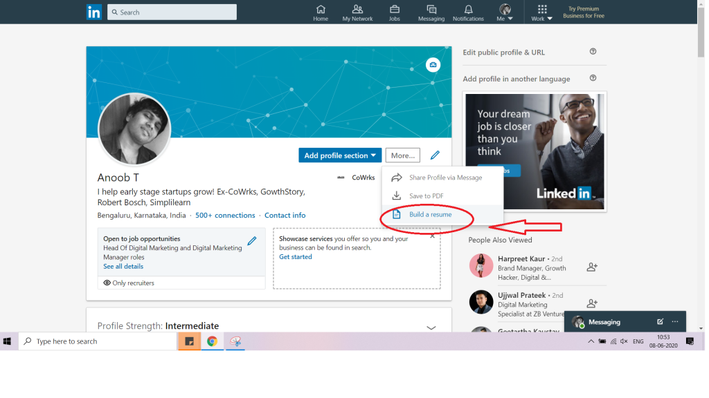 how to upload resume to linkedin in 2020