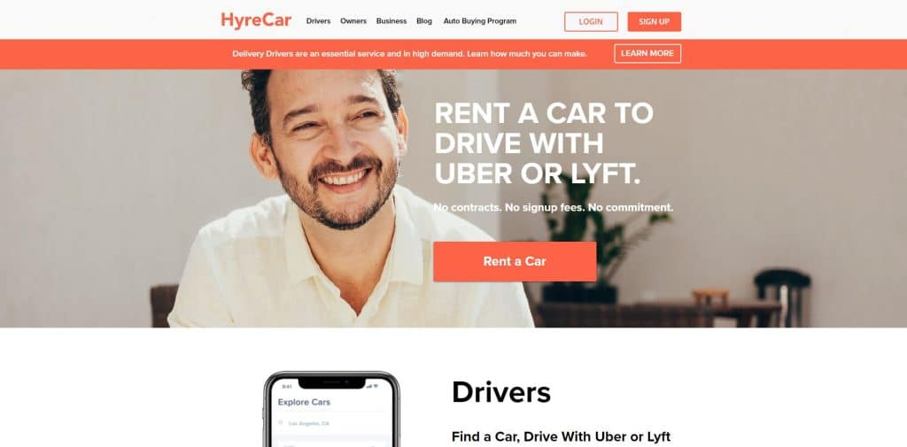 HyreCar Homepage