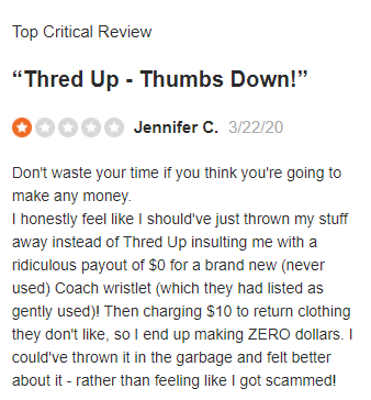 threadUP Negative Review