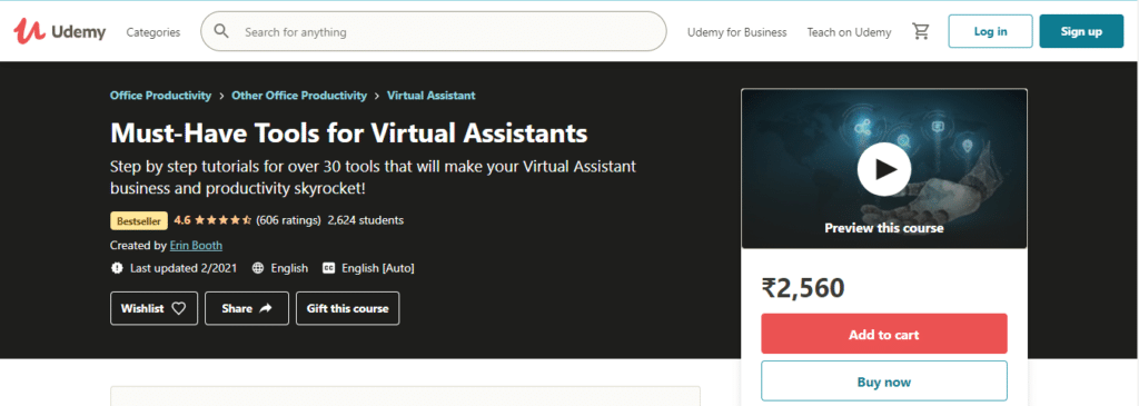 Must-Have Tools for Virtual Assistants (Udemy)
