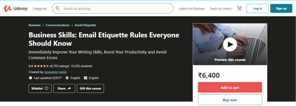 Business Skills: Email Etiquette Rules Everyone Should Know Course
