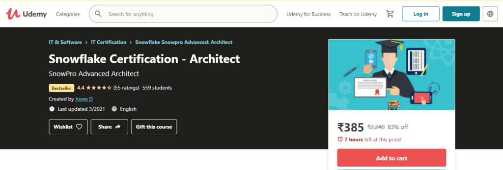 Snowflake Certification - Architect Course