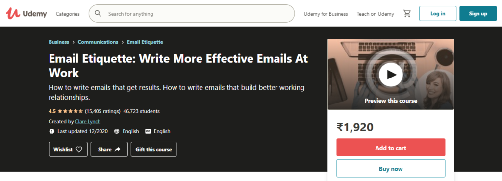 Email Etiquette: Write More Effective Emails at Work Course