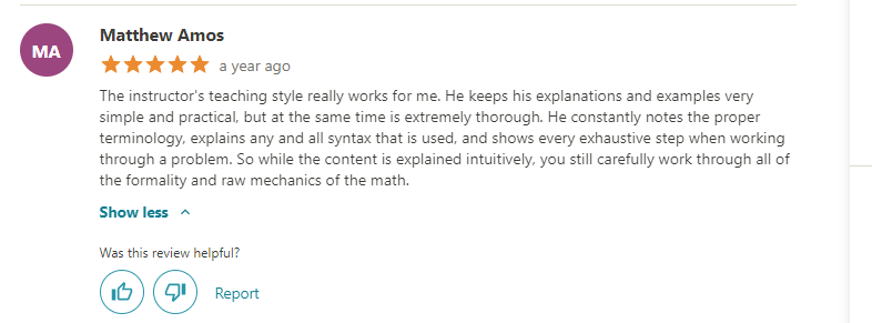 Calculus 1 with the Math Sorcerer (Udemy) Review
