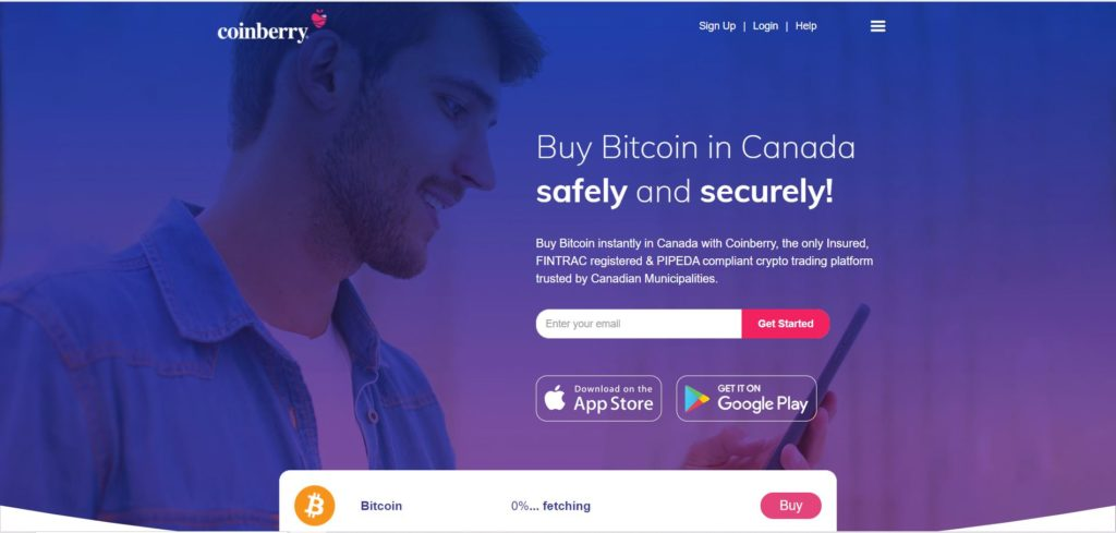 Coinberry Homepage