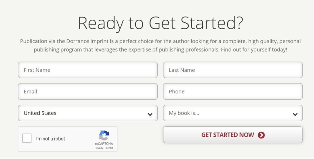How to Sign Up for Dorrance Publishing