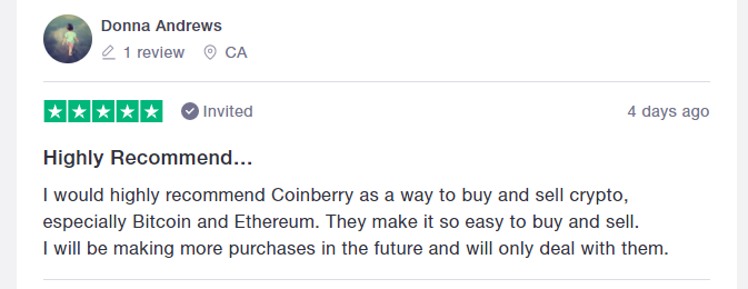 Coinberry Positive review