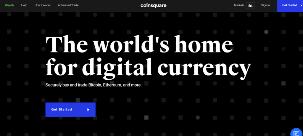 CoinSquare Homepage