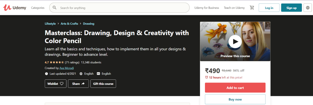 Masterclass: Drawing, Design & Creativity with Color Pencil Course