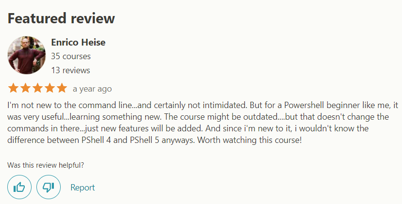Learning Windows PowerShell Review