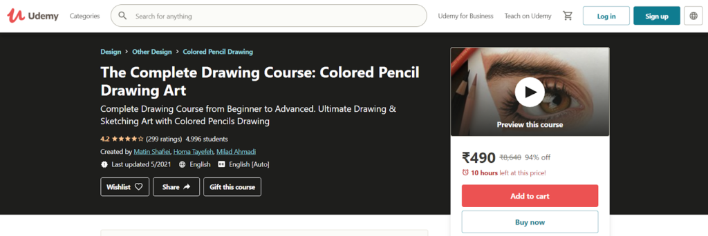 The Complete Drawing Course: Colored Pencil Drawing Art Course