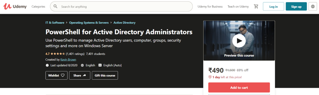 PowerShell for Active Directory Administrators Course