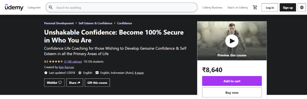 Unshakable Confidence: Become 100% Secure in Who You Are Course