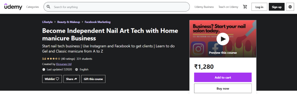 Become Independent Nail Art Tech with Home manicure Business Course