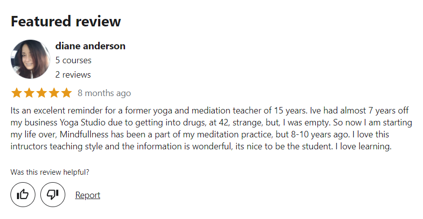 Mindfulness Practitioner Diploma (Level I, II, III & Master) Review
