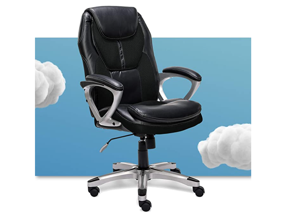Serta Executive Office Padded Arms Adjustable Ergonomic Gaming Desk Chair