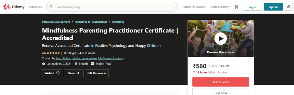 Mindfulness Parenting Practitioner Certificate | Accredited Course
