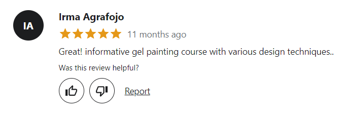 Nail Art Course with gel painting Review
