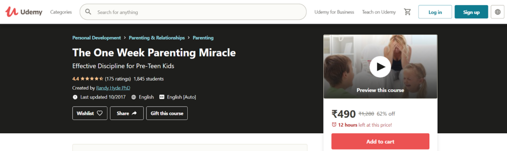 The One Week Parenting Miracle Course