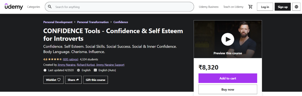 CONFIDENCE Tools - Confidence & Self Esteem for Introverts Course