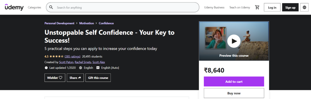 Unstoppable Self Confidence - Your Key to Success! Course