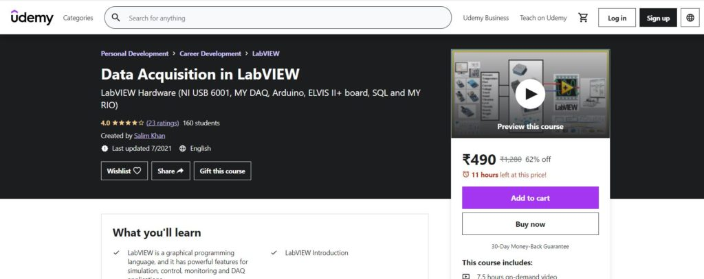 Data Acquisition in LabVIEW Course