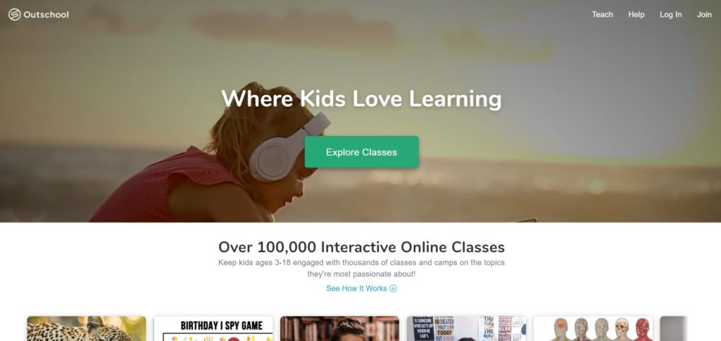 Outschool Homepage