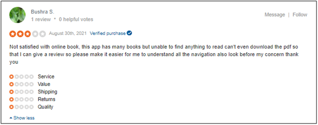 OnlineBookClub Negative Review