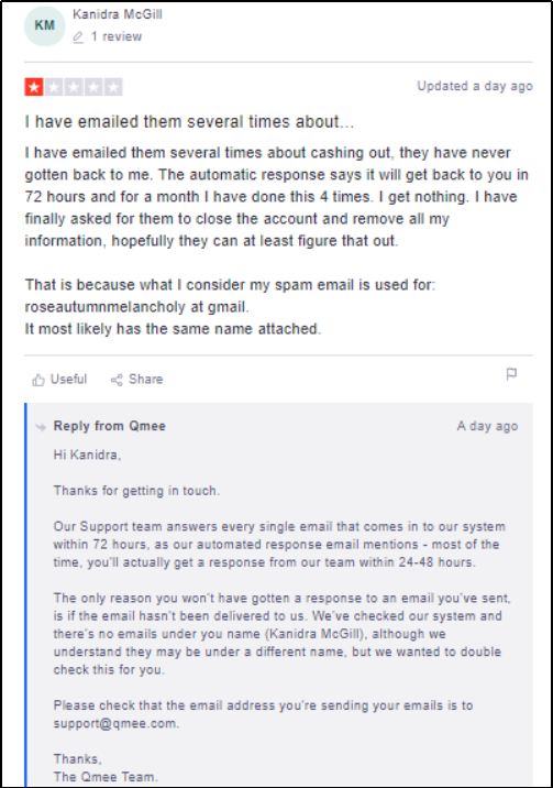 Qmee negative review